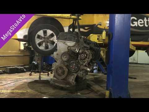 Из за ошибки P0011 Поменяли двигатель в Hyundai Solaris