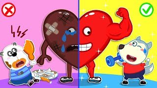 Download Wolfoo Rescues Talking Broken Heart by Healthy Habits for Kids | Wolfoo Family Kids Cartoon Mp3 and Videos