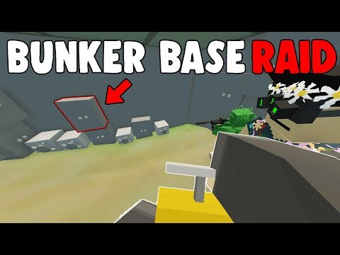 HE LOGGED IN WHILE RAIDING!  😱  - Unturned High Loot Bunker Base Raid