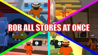 ROB ALL STORES SIMULTANEOUSLY!!! | Roblox Jailbreak Glitch