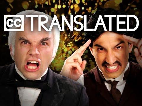 [TRANSLATED] Nikola Tesla vs Thomas Edison. Epic Rap Battles of History. [CC]