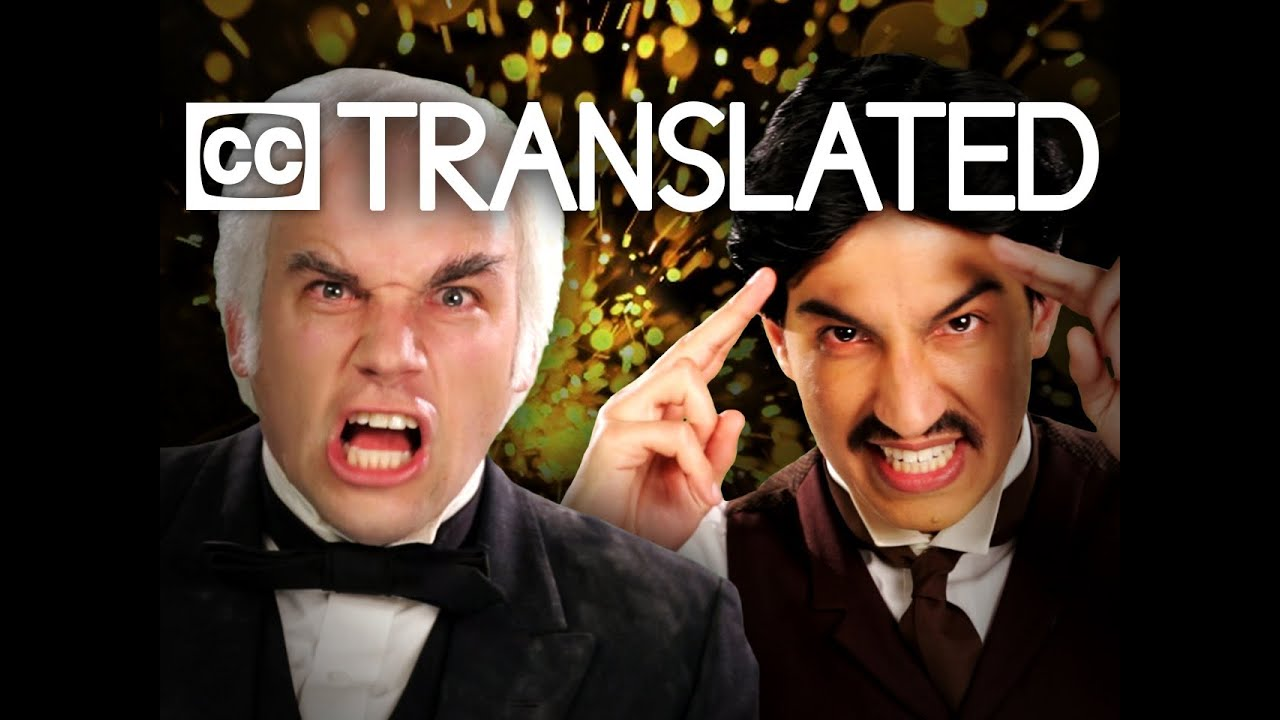 [TRANSLATED] Nikola Tesla vs Thomas Edison. Epic Rap Battles of History. [CC]