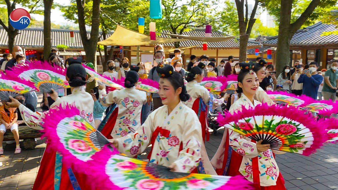 "Korean Folk Village Autumn Festival 2021 Part1. ""Ulsi-gu Jeolsi-gu"" performance."