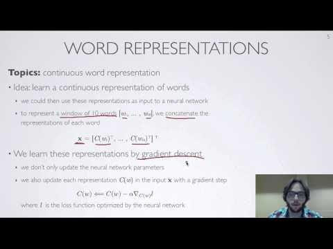 Neural networks [10.4] : Natural language processing - word representations