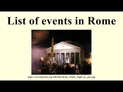 List of events in Rome