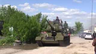 6 мая 2014 года, Луганск. Танк! УРААААА!