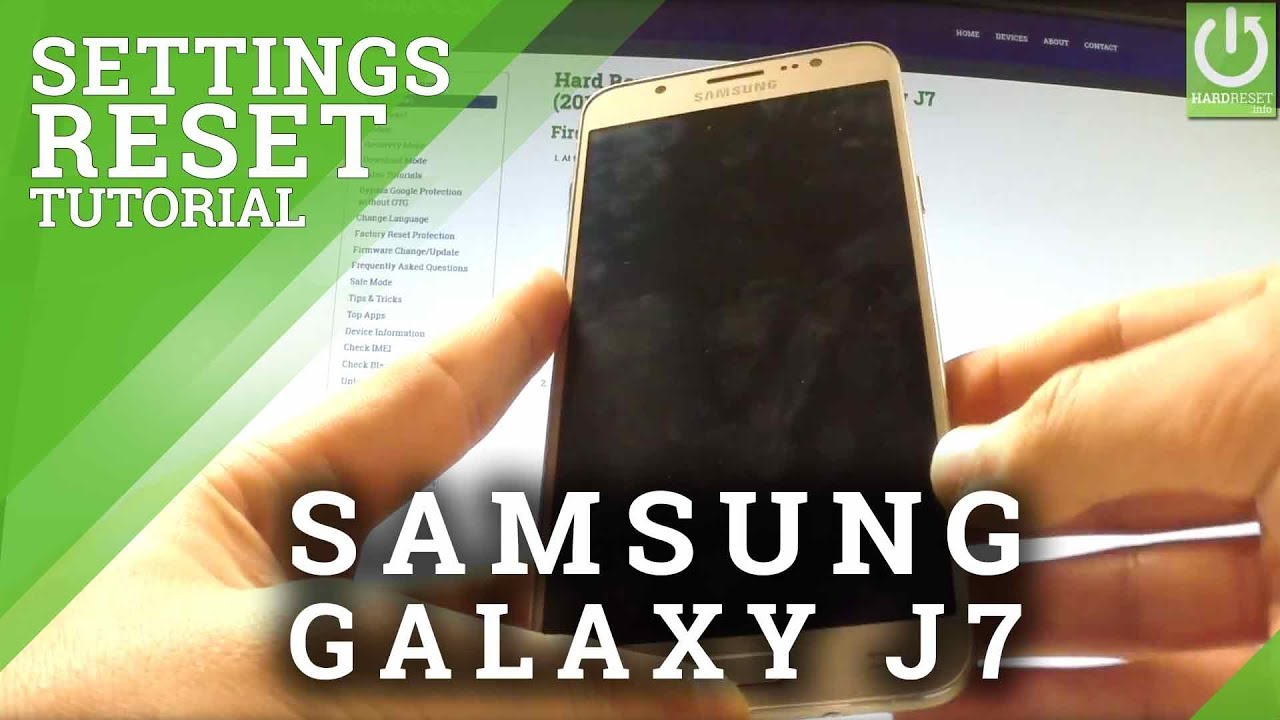 How to Reset Settings in SAMSUNG Galaxy J7 (2016) - Restore Settings
