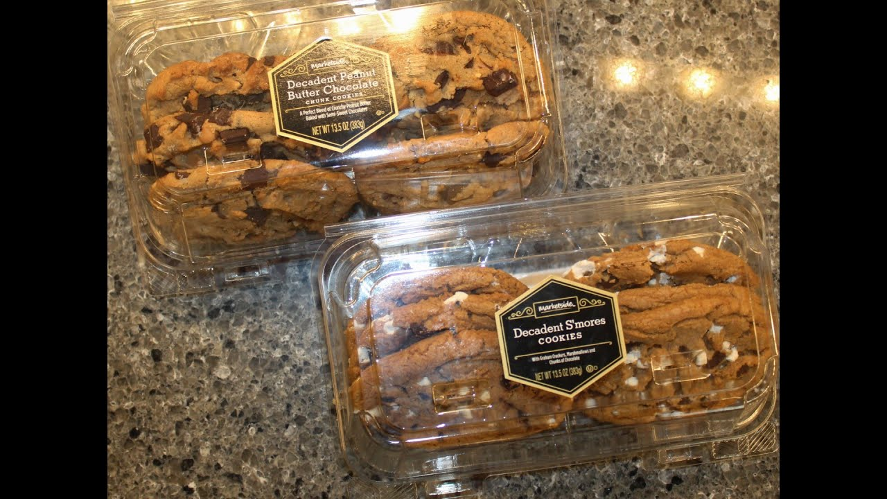 Marketside Walmart Decadent Cookies Peanut Butter Chocolate Chunk S Mores Review Youtube