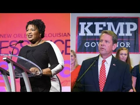 Republican Kemp's Desperate Moves to Stop Stacey Abrams in GA Gov's Race