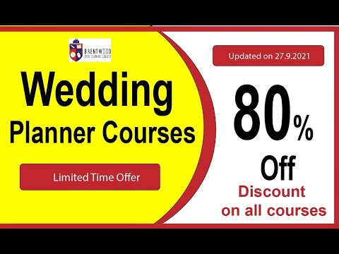 Become a Certified Wedding Planner in less than 6 Months