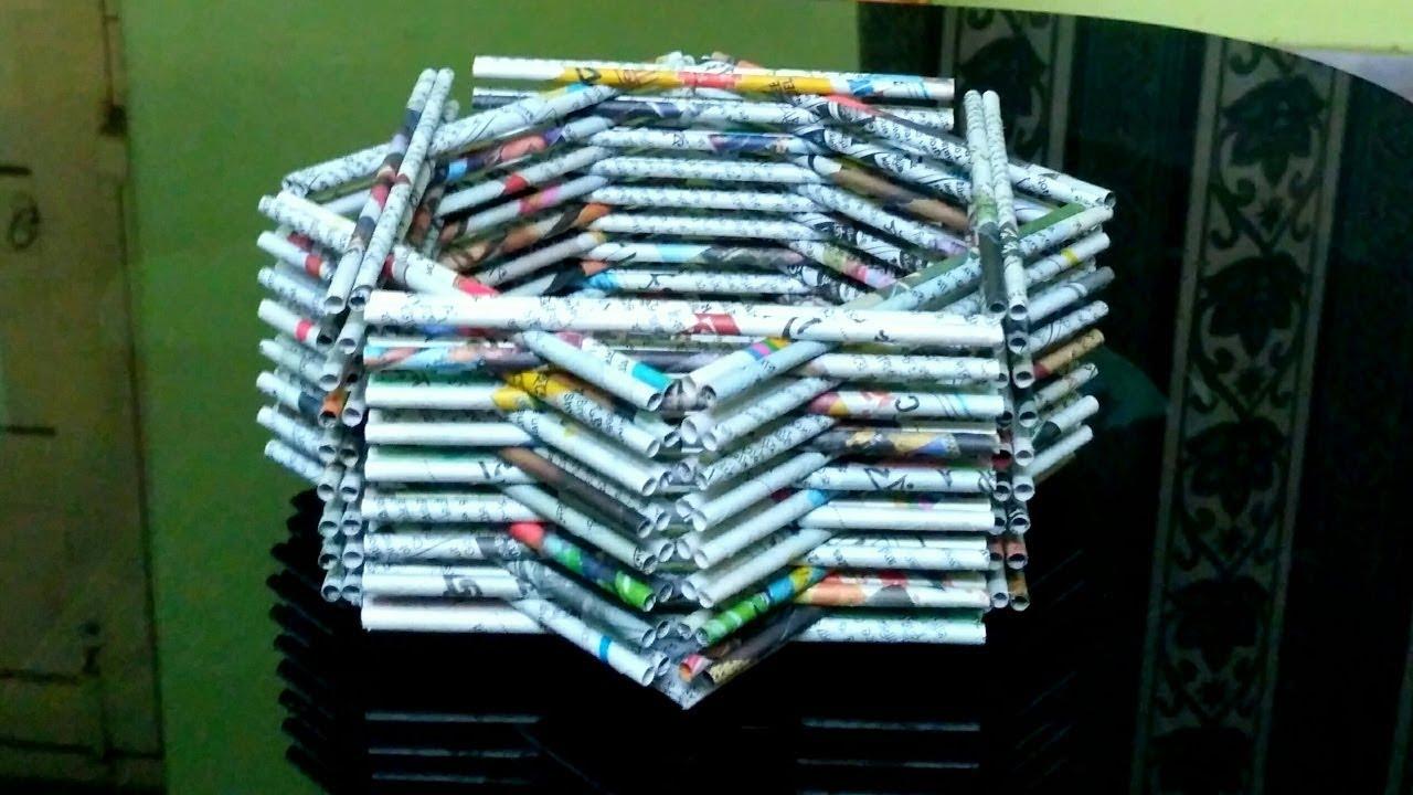Cara Membuat Keranjang Dari Koran Bekas How To Make A Newspaper Basket