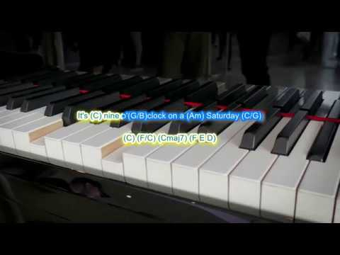 Piano Man By Billy Joel Play Along With Scrolling Guitar Chords And