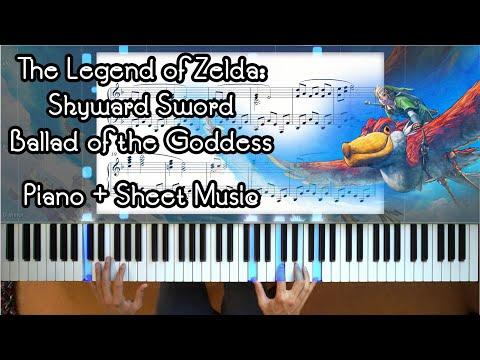 Zelda: Skyward Sword Ballad of the Goddess Piano + Sheet Music + Improv