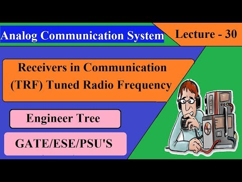 Lec.- 30 Receivers In Communication Systems   Tuned Radio Frequency   Communication System