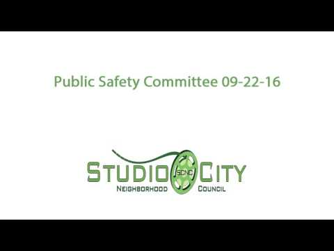 SCNC Public Safety Committee 09-22-16