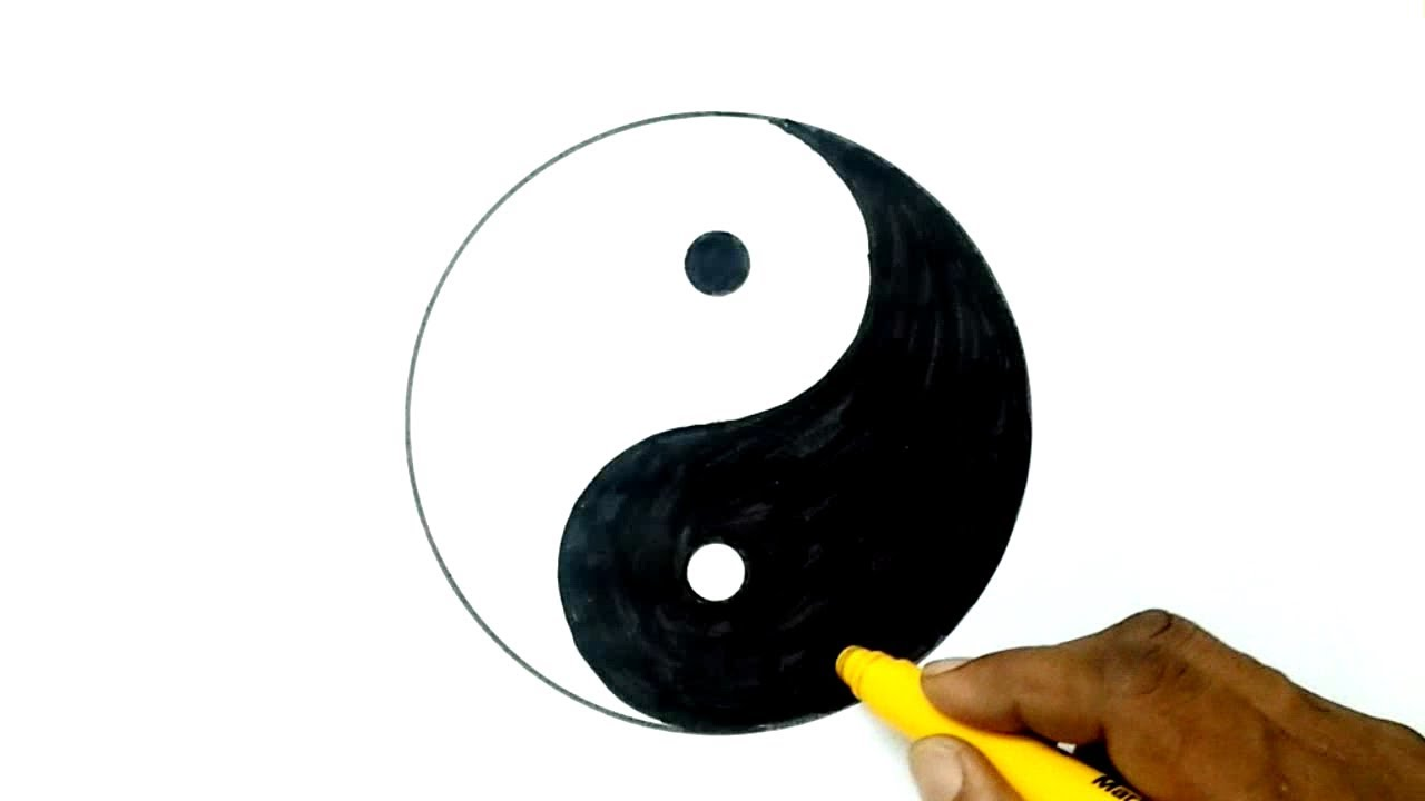 How To Draw The Yin Yang Symbol Youtube