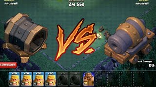 Clash of clans Builder base attack|Max Level Giant Cannon vs Max Level cannon cart