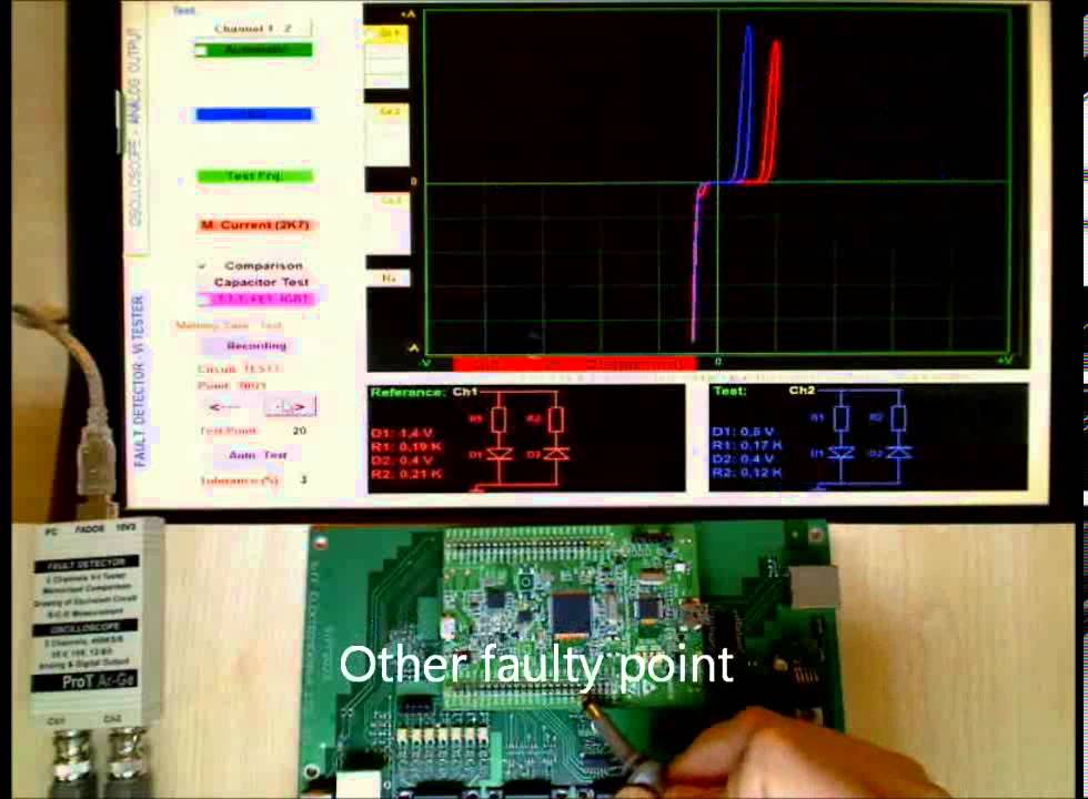 USB Curve Tracer 7 In 1 Test Repair Oscilloscope VI Tester FADOS7F1