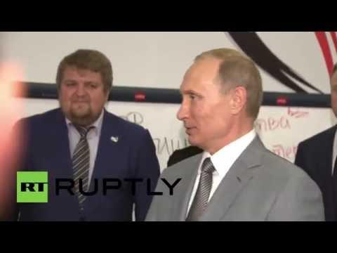 Russia: Putin meets Russia's WorldSkills contestants in ...