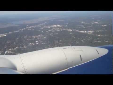 Landing at Charleston, SC on a Delta Boeing 737