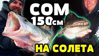 ГОЛЯМ СОМ и БЯЛА РИБА 70см с лайт въдица на язовир Логодаж zander catfish fishing