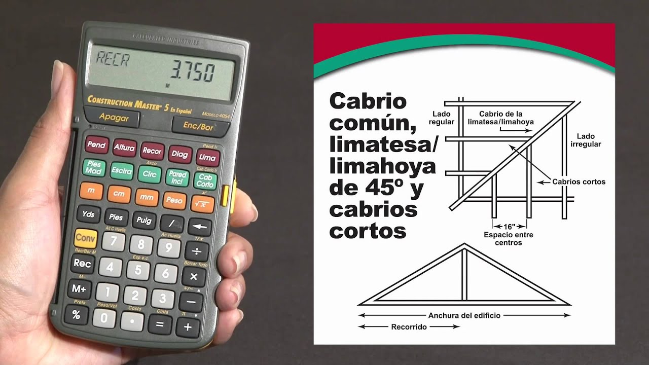 Construction Master 5 en Español -- Calcula cabrios comunes ...