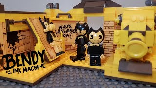 Bendy And The Ink Machine Lego Ink Machine Room Lego Stop Motion Bendy Lego Sets Stop Motion