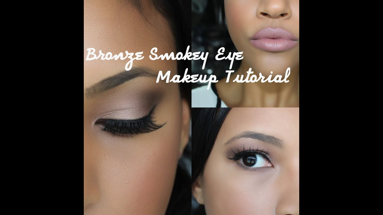 Bronze smokey eye nude lip makeup tutorial beautynthebronzer bronze smokey eye nude lip makeup tutorial beautynthebronzer youtube baditri Image collections