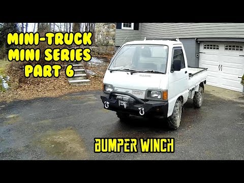 Mini Truck (SE01 EP06) mini series, front jeep winch bumper fab, paint and install HiJet