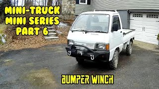 Mini Truck mini series, front jeep winch bumper fab, paint and install HiJet (Part 6)