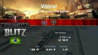 World of Tanks Blitz - FCM 50 t -  Premium - Game Play (1989 Damage - 3 Kills)