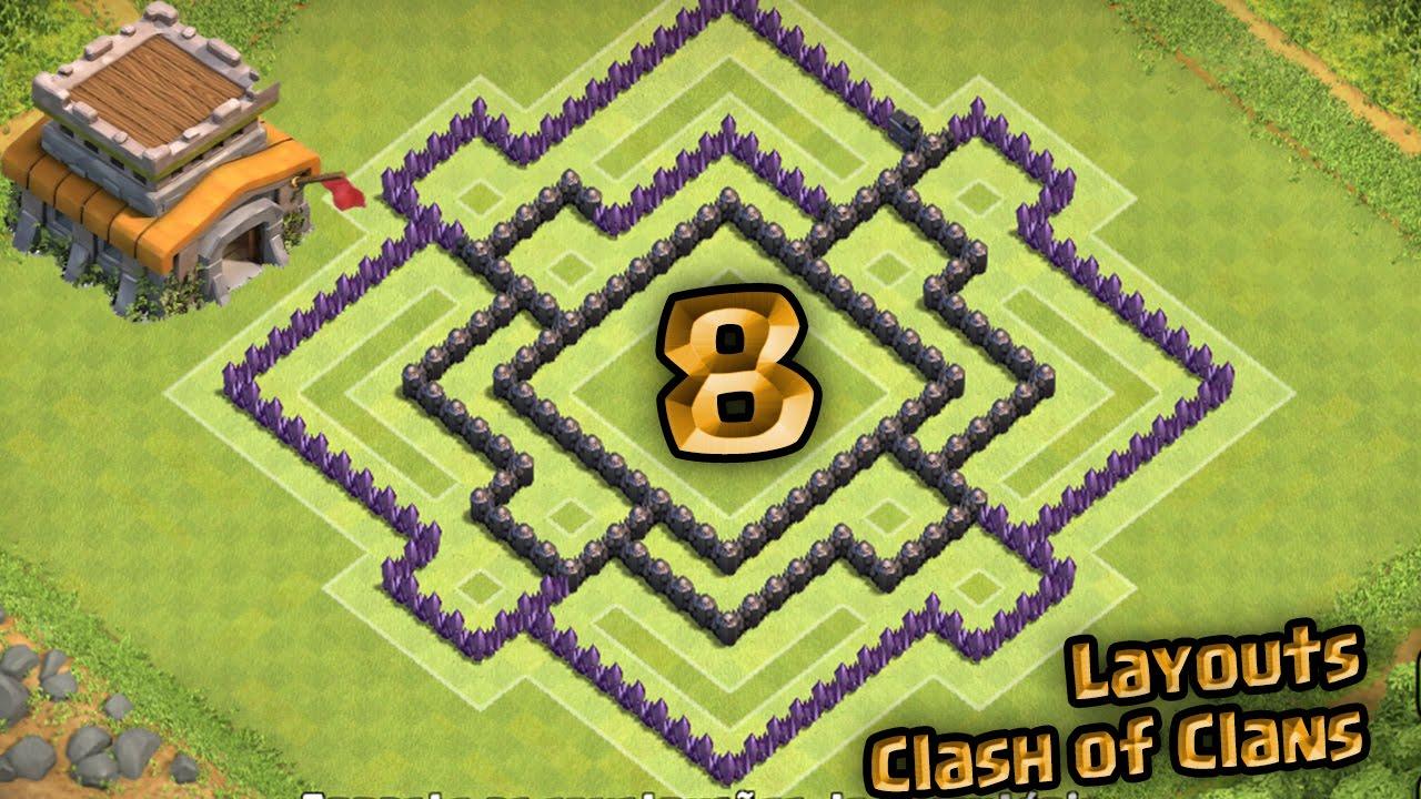 layout clash of clans melhor layout de farm para centro de vila 8
