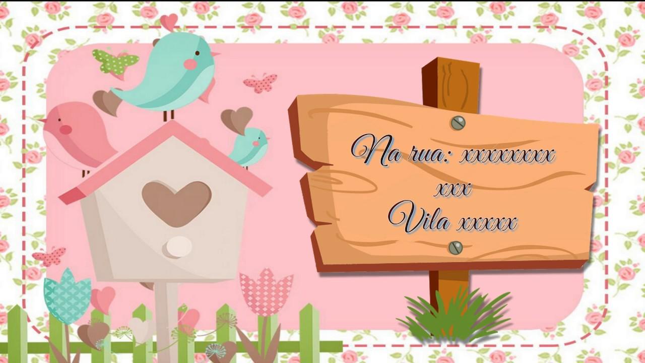 Convite Animado Chá De Bebê Tema Jardim Encantado Youtube