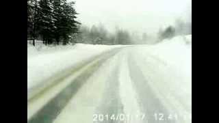Авария на трассе М5 под Ашой 17.01.2014