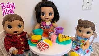 Baby Alive Lunch Time Routine baby alive videos