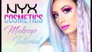 NYX COSMETICS   One Brand Makeup Tutorial   Bold Glitter   Victoria Lyn Beauty