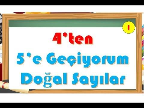 4'ten 5'e Geçiyorum Doğal Sayılar-Yardımcı Öğretmen