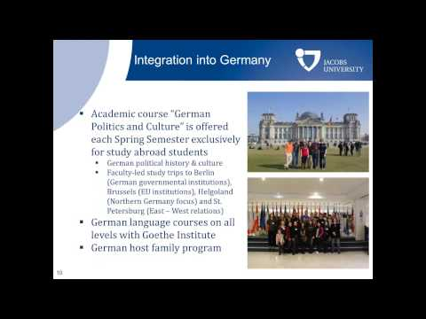DAAD Webinar Series: Study Abroad Opportunities at Jacobs University Bremen