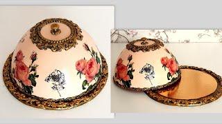 DIY/ Beautiful Kitchen decorating idea /Vintage breadbasket