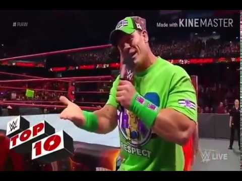 WWE//JHON CENA /Roman /and more ToP 10 /// Female