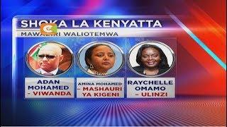 Rais Uhuru Kenyatta awafuta kazi mawaziri 13