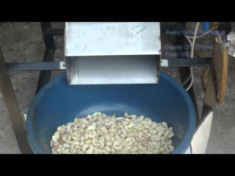 cashew kernel peeling machine by buddhi industries