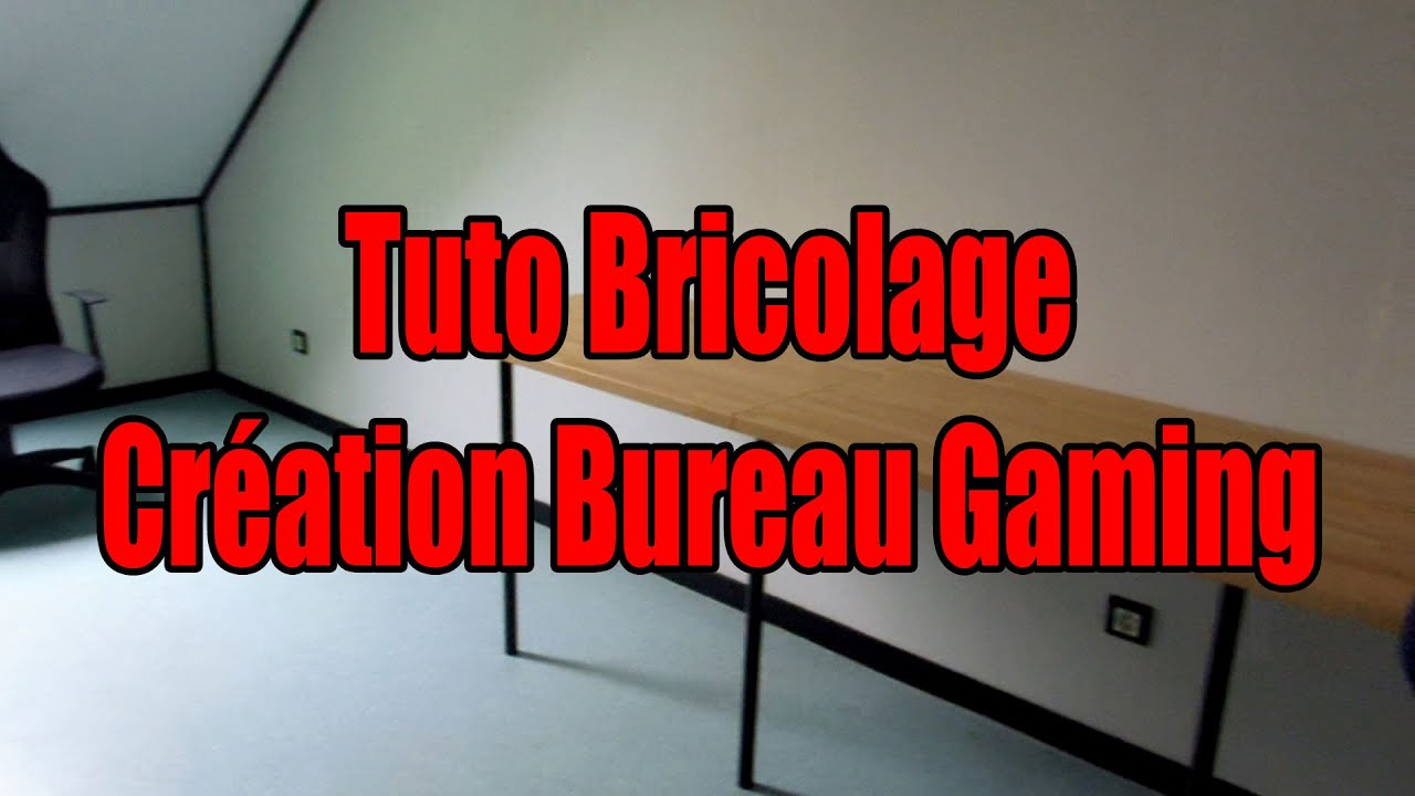 tuto bricolage cr ation bureau gaming partie 1 fr. Black Bedroom Furniture Sets. Home Design Ideas