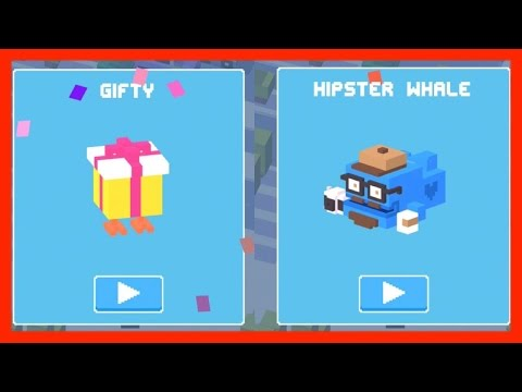 Unlock ✿ Hipster Whale ✿ AND ❄︎ Gifty ❄︎ Crossy Road - Two Mystery Characters in One!