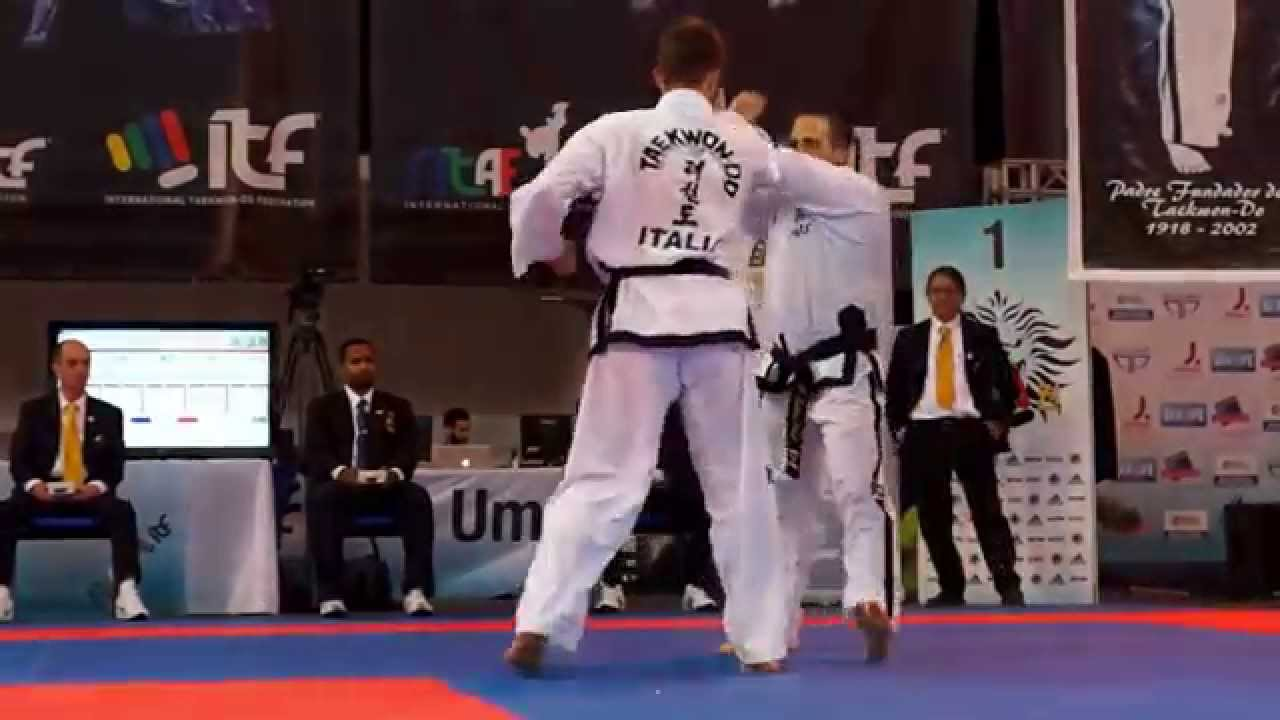 Taekwon do ITF Traditional Sparring   Italy at World Championship 2015