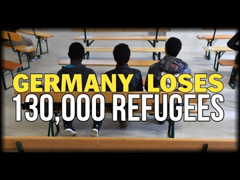 GERMANY LOSES 130,000 REGISTERED MIGRANTS