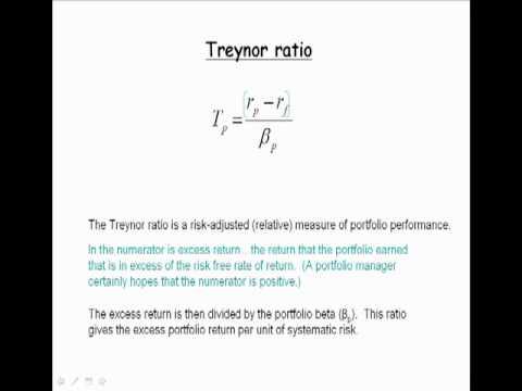 How does Treynor ratio work?