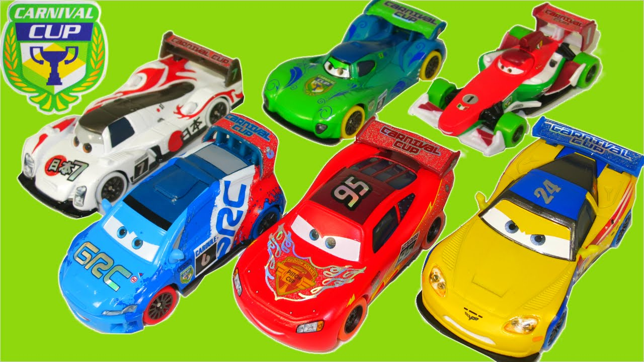 New 2016 Disney Pixar Cars Carnival Cup T Roc Racers Race Ghost Track In Rio Brazil Youtube