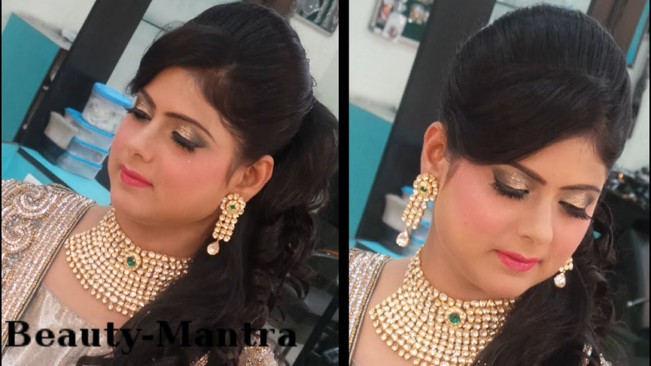 indian wedding makeup - modern reception look for bride - youtube