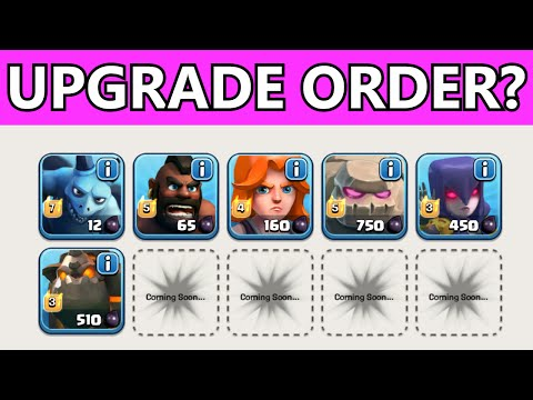 Clash of Clans WHAT DARK ELIXIR / DE TROOPS TO UPGRADE FIRST | FARMING VS CLAN WARS